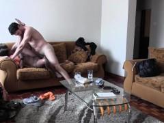 Doggy style fucking ebony amateur babe interracial