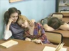 Lesbisch, Rotschopf, Russisch, Lehrer