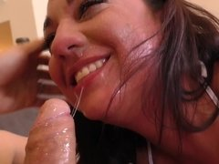 Obedient Amara Romani gets humiliated by rude fucker