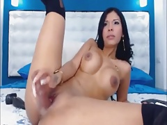 Latin plays with tight pussy - Add her on Snapcht: RubySuce