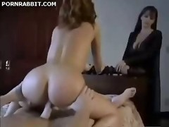 Having an intercourse The Maid In Front Of His Wife