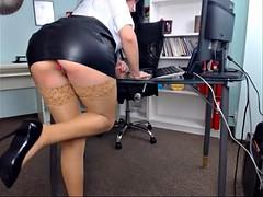 Mooi, Kantoor, Panty, Onder de rok, Webcamera