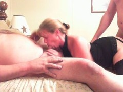 fat lad and additionally floozy wife play with stranger