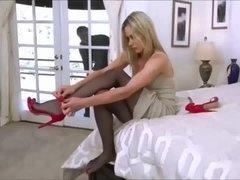 Nikki Vicious Pantyhose High Heels