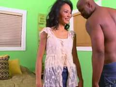 45yr old Asian MILF Sahara Blue Loves to Deep-Gullets and Fuck FAT EBONY DICK