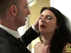 Brit sub slut Sophie Garcia riding maledom