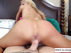 First Class POV- Alix Lynx takes a huge fat cock like a cham