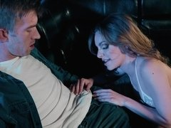 Fucking a stripper in the club and cumming on her face