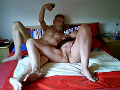 very hot couple having photo session