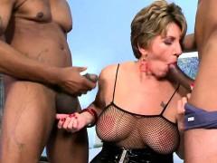 Granny loves big black cocks
