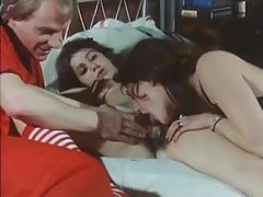 フェラチオ, 毛深い, オマンコ, 三人, ヴィンテージ