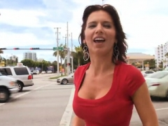 Boobalicious milf darling is getting her aroused pussy fucked