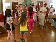 Americano, Tetas grandes, Morena, Rostro sentado, Grupo, Sexo duro, Orgía, Realidad
