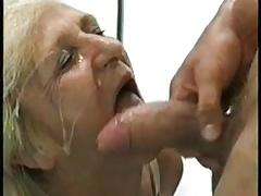 Сперма на лице, Бабушки
