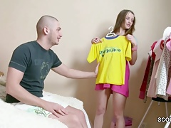 He Seduce His Petite Step-Sister to Fuck and Creampie