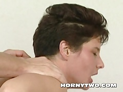 Shaved brunette mature MILF bitch with wet naked pussy taken