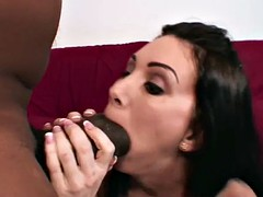 Watch we swallow every inch of his black cock