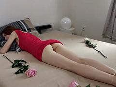Amateur, Masturbación, Pelirrojo, Ruso, Adolescente