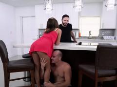 Hot Latina Mia Martinez fucks big cock in the kitchen