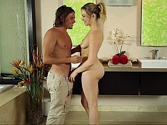 Soft masseuse hands land on aroused skin
