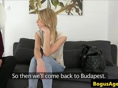 Euro casting amateur assfucked before toy