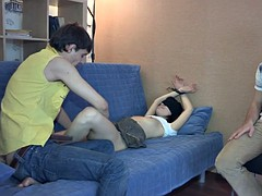 Tiedup russian gf tricked and banged