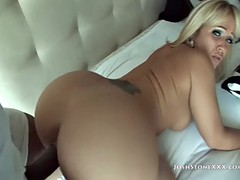 Blonde MILF Takes Care Of Black Dong