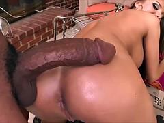 Nika Noir takes giant black cock
