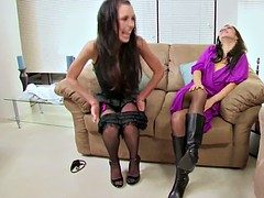 Mother show how to fuck with DP to young german teen girl