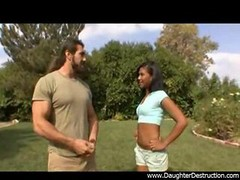 Throat abused by monster black love poles