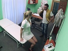 Slutty nurse prescribes her pussy