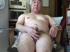 Japanese old man masturbation Ejaculation