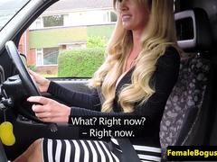 British busty cabbie doggystyled by black guy