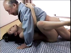 Japanese nympho haruka okoshi compels old fellow to screw her