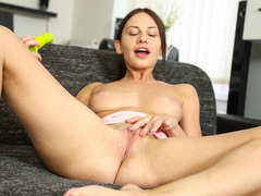Lana Has a Pussy Playtime with her Toy.
