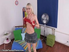 Double Defloration Of Charming Blonde Virgin