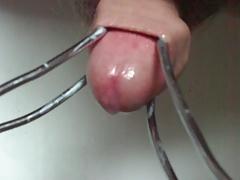 Bathroom foreskin + cumshots
