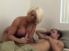 Step Mom Jerking off Her Son