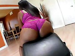 Big ebony sticks out that butt to get him to make love her deep