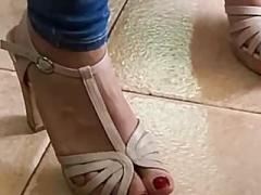 Eager mom feet