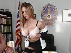 Cockriding porn pro screwed in police outfit