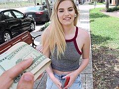 Dinero, Al aire libre, Pov, Público, Coño, Adolescente