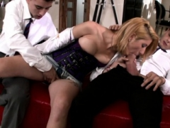 Old pornstar Double ripping fucked in a foursome
