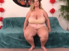 Sizeable Boobed Whopper Fingers Her Cunt and Fucks