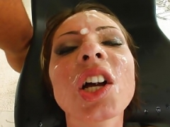 Cum For Cover Garbriella's blindfolded and additionally soaked in cum