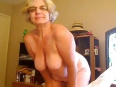 Plump online camera granny