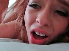 Aurora Monroe screaming like lunatic while being plowed very deep