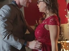 Nice sex action on Christmas Eve by Abigail Mac and her male
