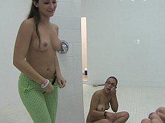 Incroyable, Salle de bains, Face assise, Groupe, Hard, Petite femme, Pov, Étudiant