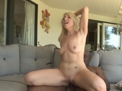 Blonde that loves black cock is getting a big one inside her body